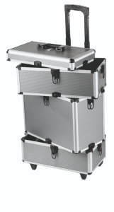 Valise professionnelle trolley gris Peggy Sage