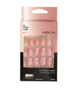 Kit 24 faux ongles rose wood