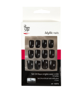 Kit 24 faux ongles black Idyllic nails